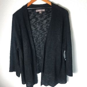 Women's Black Cardigan Size XXL plus sized